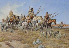 19th Century. On the Move, par Nick Eggenhofer.LE Spotted Horse dans l'Histoire / Du 17e Siècle au 18e siècle / Part.III