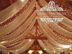 Csillagos égbolt esküvői dekoráció