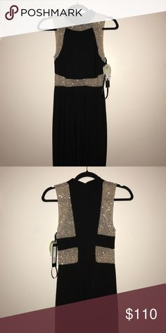 Prom Dress! This is an all Black with Nude mesh Betsy Adams Prom Dress ! The dress reaches all the way past the feet, with a little train. Betsy & Adam Dresses Prom
