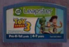TOY STORY 3 Game Leapster LEAP FROG GAME 2010 PreK-1st Ages 4-7 DISNEY PIXAR #LeapFrog