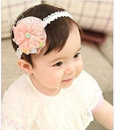 Newborn Baby Kid Rose Flower Princess Hairband Wedding Party Headwear Adjustable