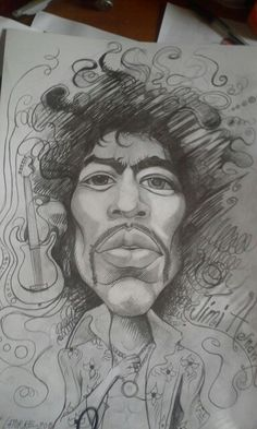 Jimi Hendrix by artist Giovanni Latorre