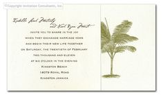 Natural Palm - Wedding Invitations by Invitation Consultants. (Item # TXNAF12377-933 )