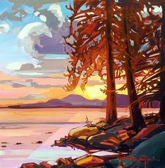 Stephanie Gauvin is a contemporary landscape painter, a Signature member of the Federation of Canadian Artists out of British Columbia. Contemporary Landscape, Contemporary Artists, How To Make Paint, Canadian Artists, Paint By Number, British Columbia, Painting Inspiration, Artwork, Coin