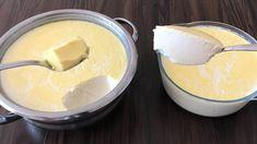 Domáci jogurt vyrábam už roky, kedysi som ho robila z domáceho mlieka, ale to nemám k dispozícií stále a preto som hľadala recept z klasického kupovaného mlieka z obchodu. Tento sa nám osvedčil najviac, jogurt je výborný, veľmi chutný a zvlášť moje deti ho doslova milujú. Pridávam aj recept na domáci jogurt len z 2... Turkish Recipes, Ethnic Recipes, Raw Milk, Bon Appetit, Yogurt, Pudding, Cheese, Make It Yourself, Homemade