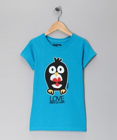 Take a look at this Turquoise 'Warm Love' Tee - Girls by Request Jeans, Antique Rivet & Inkbone on #zulily today!