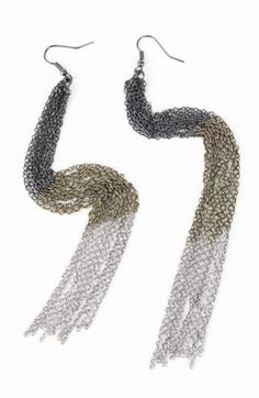 These chain earrings are mesmerizing <3 www.mooreaseal.com