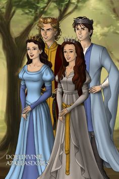 Peter, Edmund, Susan and Lucy Kings and Queens of Narnia
