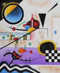 Wassily Kandinsky, Contrasting Sounds, 1924 on ArtStack #wassily-kandinsky-vasilii-vasil-ievich-kandinskii #art