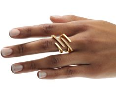 Angela Hübel Rings | Parallelo with diamonds