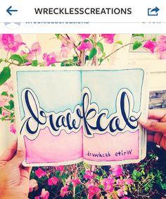 Wreck this journal write backward