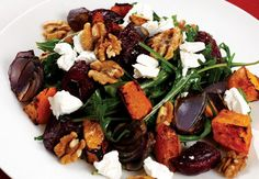 Roast beetroot and pumpkin salad .A great summer salad that's packed full of tasty veg.