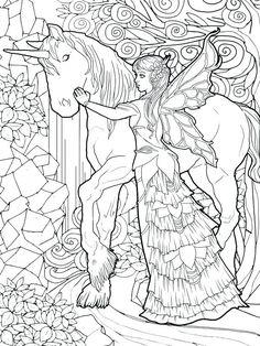 Magical Unicorns and Fairies: Adult Coloring Book, Unicorn Coloring Book, Fairies Coloring Book, Fairy Coloring Book, Fantasy Coloring Book Fairy Coloring Pages, Unicorn Coloring Pages, Pokemon Coloring Pages, Printable Coloring Pages, Coloring Pages For Kids, Free Coloring, Coloring Books, Kids Coloring, Mermaid Coloring Book