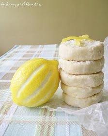 Baking with Blondie : Zesty Lemon Shortbread Cookies