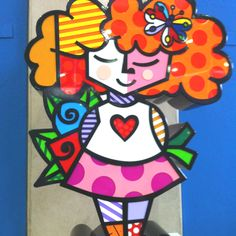 By Romero BRITTO -- Rousse? Red or Ginger hair!