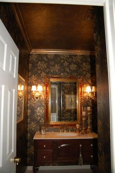 powder room bronze