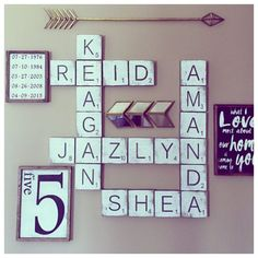 Large Letter Tiles for the wall . Home Decor . Gallery Wall