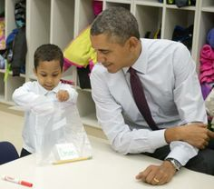 President Barack Obama Visits Powell Elementary School In Washington, D.C. Posted on March 4, 2014 by Jueseppi Baker