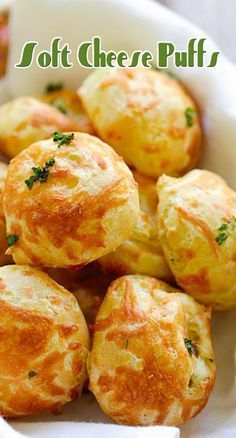 Cheese Puffs (Gougeres) - best and easiest recipe for puffy light and airy French cheese puffs. Loaded with mozzarella and parmesan cheese so good! Food Recipes For Dinner, Food Recipes Homemade Vegetarian Recipes, Cooking Recipes, French Cheese, Cheese Puffs, Puff Recipe, Appetizer Recipes, Appetizers, Recipes Dinner, Choux Pastry