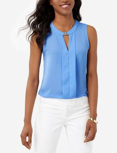 Sleeveless Keyhole Blouse | Women's Blouses & Shirts | THE LIMITED