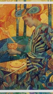 The Magician - Crystal Tarot Illustrations, Illustration Art, Le Bateleur, Yi King, The Magician Tarot, Tarot Major Arcana, Oracle Cards, Tarot Decks, Tarot Cards