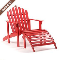 Red Adirondack Chair & Ottoman at Kirkland's