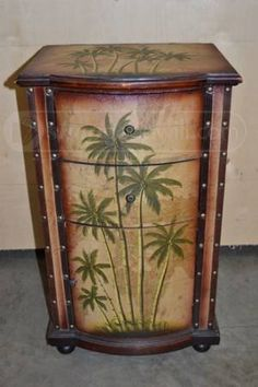 Cabinet W Palm Trees