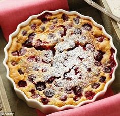 Low Calories Cherry Clafouti