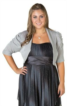 plus size strapless dress with chiffon criss cross and sequin