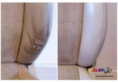 torn and faded car seat like new again by Color Glo