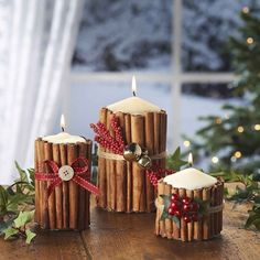 You can also locate other holiday candles in Less Candles' shop and make a Christmas candle wonderland in your house! Handmade Christmas Decorations If you are you searching for unique, fun a… Christmas Candle Decorations, Christmas Candles, Christmas Decorations Apartment Small Spaces, Halloween Decorations, Diy Christmas Decorations Easy, Christmas Candle Holders, Decoration Crafts, Decor Diy, Decoration Table