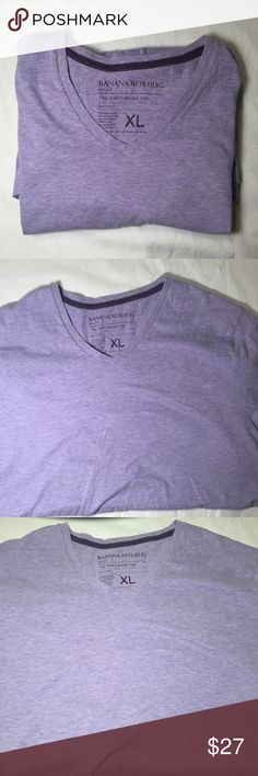 Light Purple Pastel V-Neck Banana Republic This shirt is in excellent condition!  Pastel light purple v-neck shirt.  Super soft too!            All products* sold by super22saver55 are pre-washed using Tide Pods, Downy Unstoppables, and Oxygen Orange for your convenience.  *Not including NWT products, products made of wool or sports wear.  *Sports wear products are washed with detergent and vinegar or baking soda. Banana Republic Shirts Tees - Short Sleeve