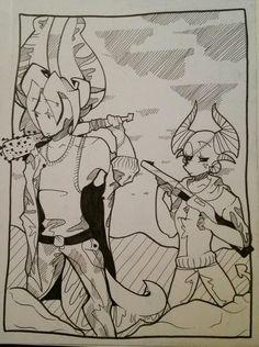 Two of my favorite Original characters in some sort of post apocalyptic feild.  #oc #original #original character #character #apocalypse # post apocalypse #apocalyptic     ●●Deviantart katlover003  ●●Tumblr : Katlover003