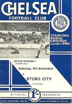#*chelsea v stoke city #1967/68 #matchday programme*, View more on the LINK: http://www.zeppy.io/product/gb/2/351803129506/