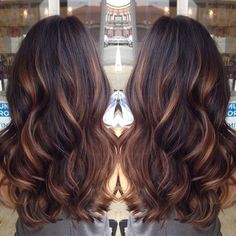 Hadia tariq strwberryvanill on pinterest golden caramel balayage on her dark brown hair i want to try the balayage method of hair color pmusecretfo Image collections