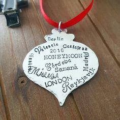 #honeymoongoals right here 😍😍😍 custom wanderlust travel ornament by DreamWillowStudio on Etsy
