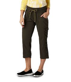 Woven Active Rouched Capris