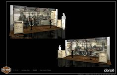 Juneau Ave - Harley Davidson Steampunk Booth by Maya Bakalars at Coroflot.com