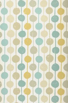 £40.19 Price per roll (per m2 £7.68), Retro wallpaper, Carrier material: Non-woven wallpaper, Surface: Smooth, Look: Matt, Design: Dots, Stripes, Basic colour: Cream, Pattern colour: Beige, Mint turquoise, Ochre yellow, Reed green, Characteristics: Good lightfastness, Low flammability, Strippable, Paste the wall, Wash-resistant