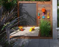 kert homokozó DIY