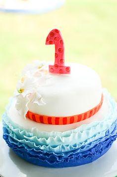 Luau 1st birthday party