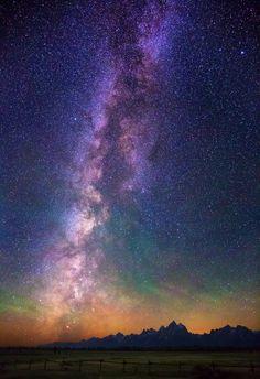 Grand Teton Range near Moran Junction, Wyoming