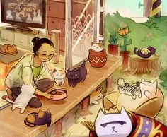 """peevishpants: """" sign me up for the Tubbs Revolution also I love this game it's literally my dream life """" Neko Atsume, Neko Neko, Stupid Cat, Fandom Games, Cute Little Kittens, Japanese Drawings, Cute Games, Grumpy Cat, Cat Collector"""