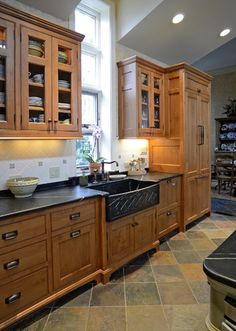 Soapstone Countertops With Slate Floors Html on