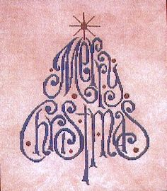 merry christmas cross stitch free patterns | Free Christmas Designs – Told in a Garden