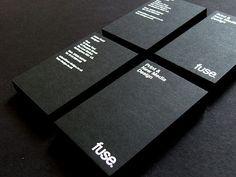黒と白のモノクロ調でインパクトの強い名刺デザインいろいろ - GIGAZINE