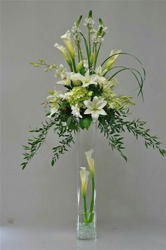 Awesome arrangement with lilies, orchids, calla lilies, and hydrangea