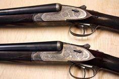 PAREJA AYA Nº 1 LLAVES SENIOR DE 4 PILARES Side By Side Shotgun, Firearms, Hand Guns, Hunting, Fishing, Beautiful, Shotguns, Couple, Dogs