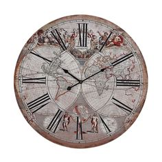 This wall clock features a renaissance style world map and figures https://joyfulhomegoods.com/collections/wall-decor/products/sterling-industries-renaissance-style-printed-map-clock-171-004?variant=20311310663 Free gift for our Pinterest fans! $5 gift card, use code PIN5 to redeem!