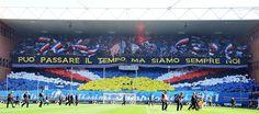 """""""Può passare il tempo ma siamo sempre noi..."""" Sampdoria's choreography in the derby number 106"""